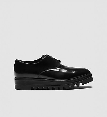 CALVIN KLEIN COLLECTION Brushed Leather Oxford Shoes 00000J0423BLK