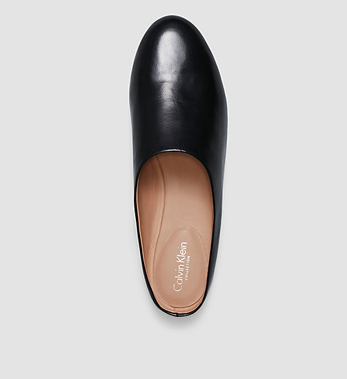 CKCOLLECTION Leather Slip-On Shoes - BLACK /  BLACK - CK COLLECTION FLAT SHOES - detail image 1