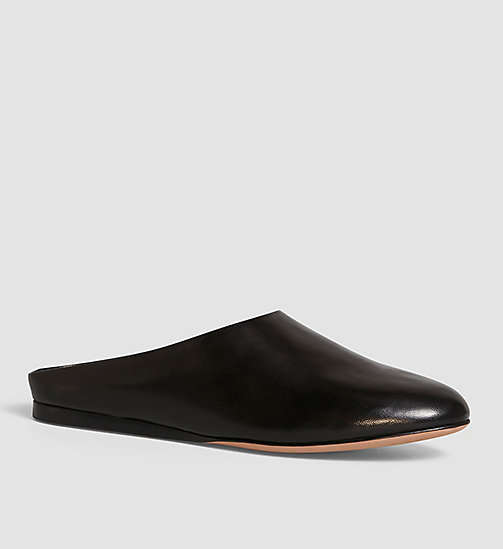 CKCOLLECTION Leather Slip-On Shoes - BLACK /  BLACK - CK COLLECTION FLAT SHOES - main image