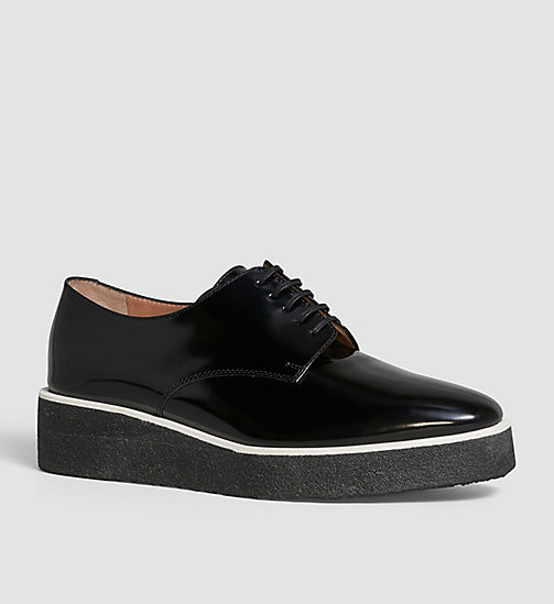 CKCOLLECTION Chaussures à lacets en cuir - BLACK /  BLACK - CK COLLECTION CHAUSSURES PLATES - image principale