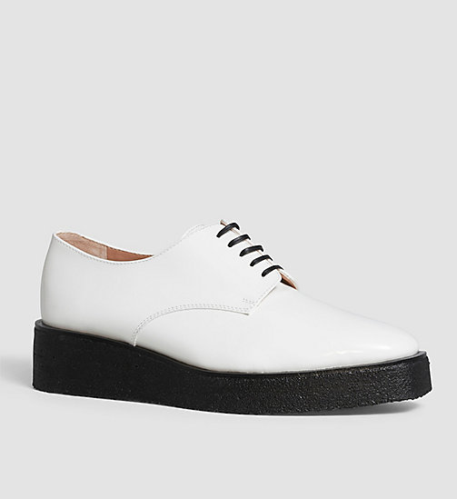 CKCOLLECTION Leather Lace-Up Shoes - BLACK/WHITE - CK COLLECTION FLAT SHOES - main image