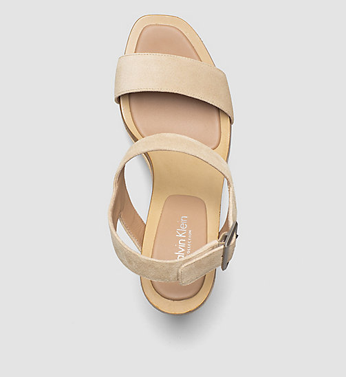 CKCOLLECTION Suede Pumps - PINK/BUFF - CK COLLECTION SANDALS - detail image 1
