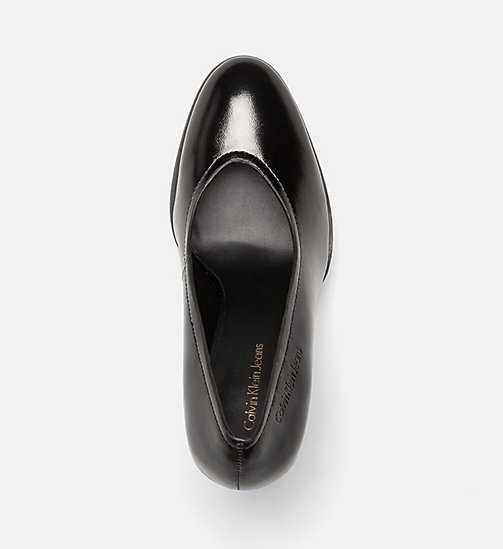 CALVIN KLEIN JEANS Leather Pumps - BLACK - CALVIN KLEIN JEANS HIGH HEELS - detail image 1