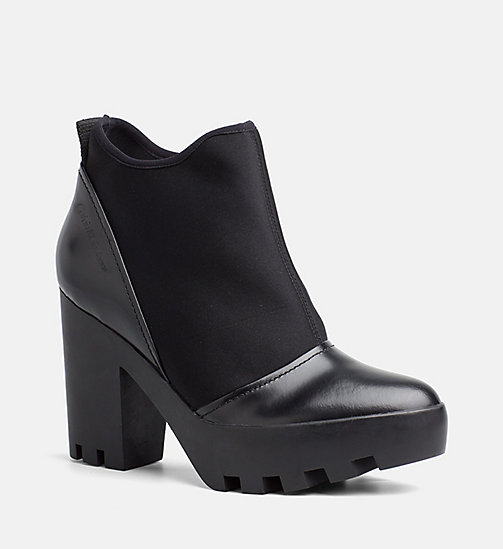 CALVIN KLEIN JEANS Slip-On Ankle Boots - BLACK - CALVIN KLEIN JEANS ANKLE BOOTS - main image