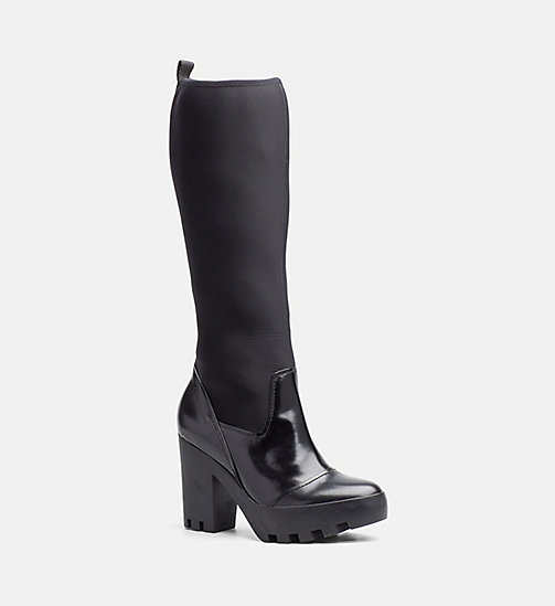 CALVIN KLEIN JEANS Neoprene Boots - BLACK - CALVIN KLEIN JEANS BOOTS - main image