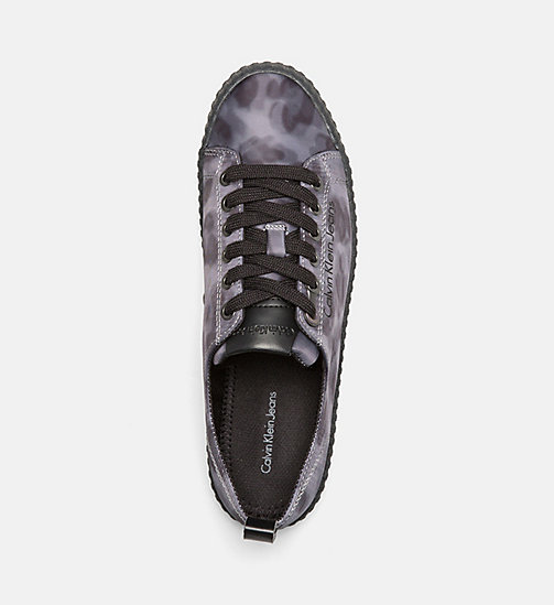 CALVIN KLEIN JEANS Leopard Sneakers - GREY - CALVIN KLEIN JEANS TRAINERS - detail image 1