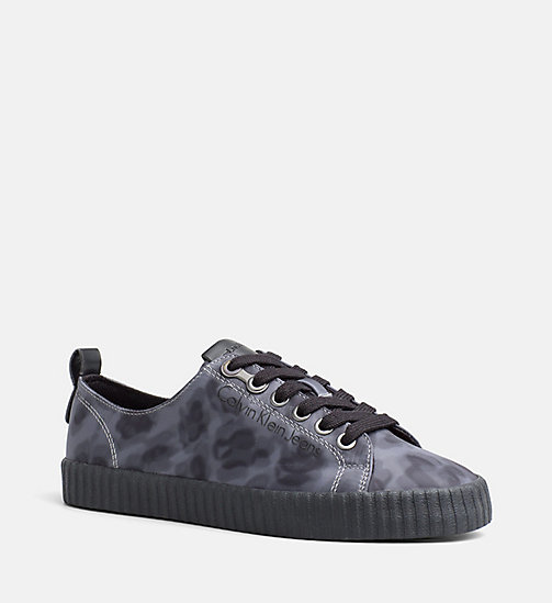 CALVIN KLEIN JEANS Leopard Sneakers - GREY - CALVIN KLEIN JEANS TRAINERS - main image