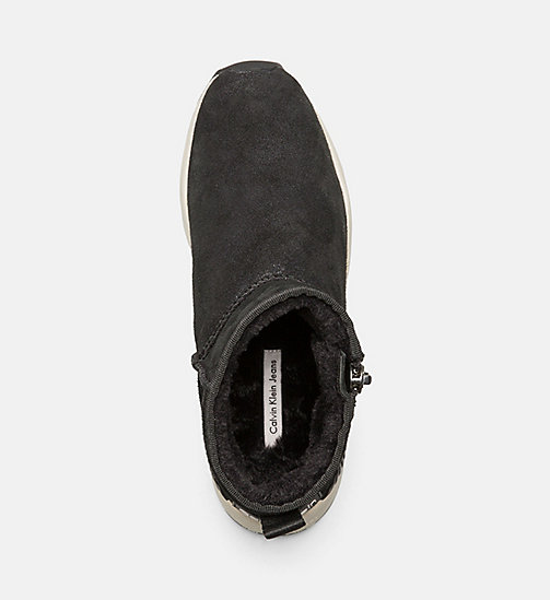 CALVIN KLEIN JEANS Suede Zip Ankle Boots - ANTHRACITE - CALVIN KLEIN JEANS BOOTS - detail image 1