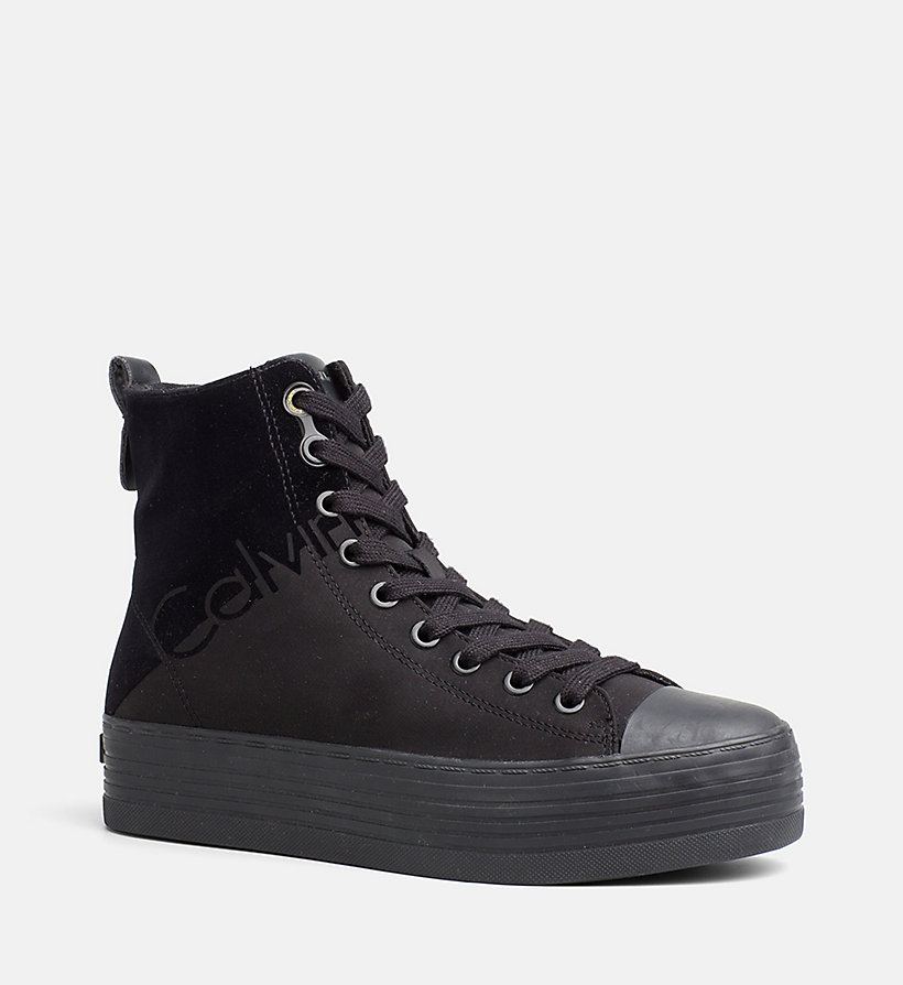 nylon twill high top sneakers calvin klein 00000r0643bbk. Black Bedroom Furniture Sets. Home Design Ideas