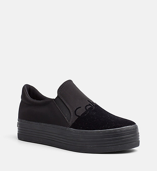 CALVIN KLEIN JEANS Nylon Twill Slip-On Shoes - BLACK/BLACK - CALVIN KLEIN JEANS TRAINERS - main image