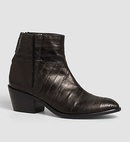 CALVIN KLEIN JEANS Leather Ankle Boots - Phaedra 00000R3298BLK