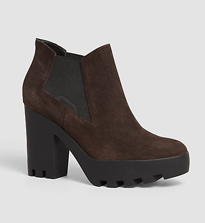 CALVIN KLEIN JEANS Suede Ankle Boots - Sandy 00000R3493MCH