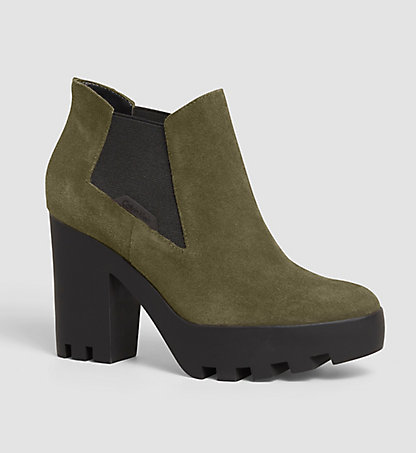 CALVIN KLEIN JEANS Suede Ankle Boots - Sandy 00000R3493MRY