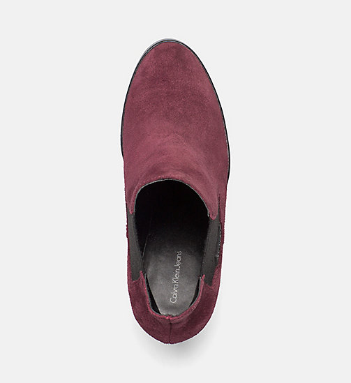 CALVIN KLEIN JEANS Suede Ankle Boots - WINE - CALVIN KLEIN JEANS ANKLE BOOTS - detail image 1