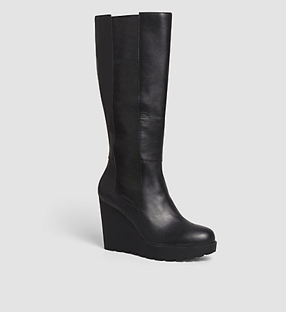CALVIN KLEIN JEANS Leather Boots - Sequin 00000R3504BLK