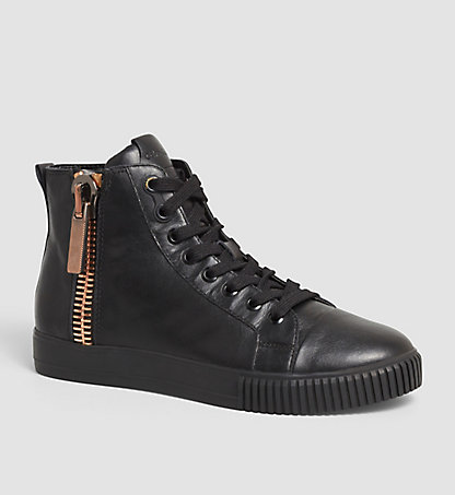 CALVIN KLEIN JEANS High-Top Sneakers aus Leder - Bliss 00000R3534BLK
