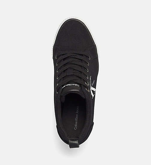 Canvas Sneakers - BLACK/BLACK - CALVIN KLEIN JEANS  - detail image 1