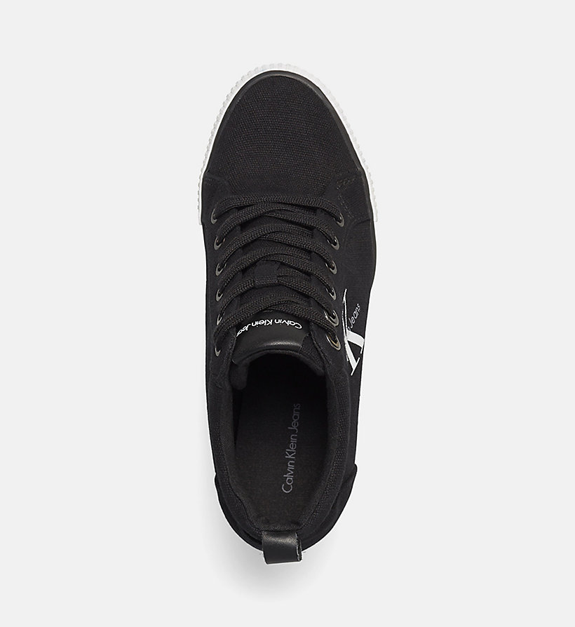 CKJEANS Canvas Sneakers - BLACK/BLACK - CK JEANS SHOES & ACCESSORIES - detail image 1
