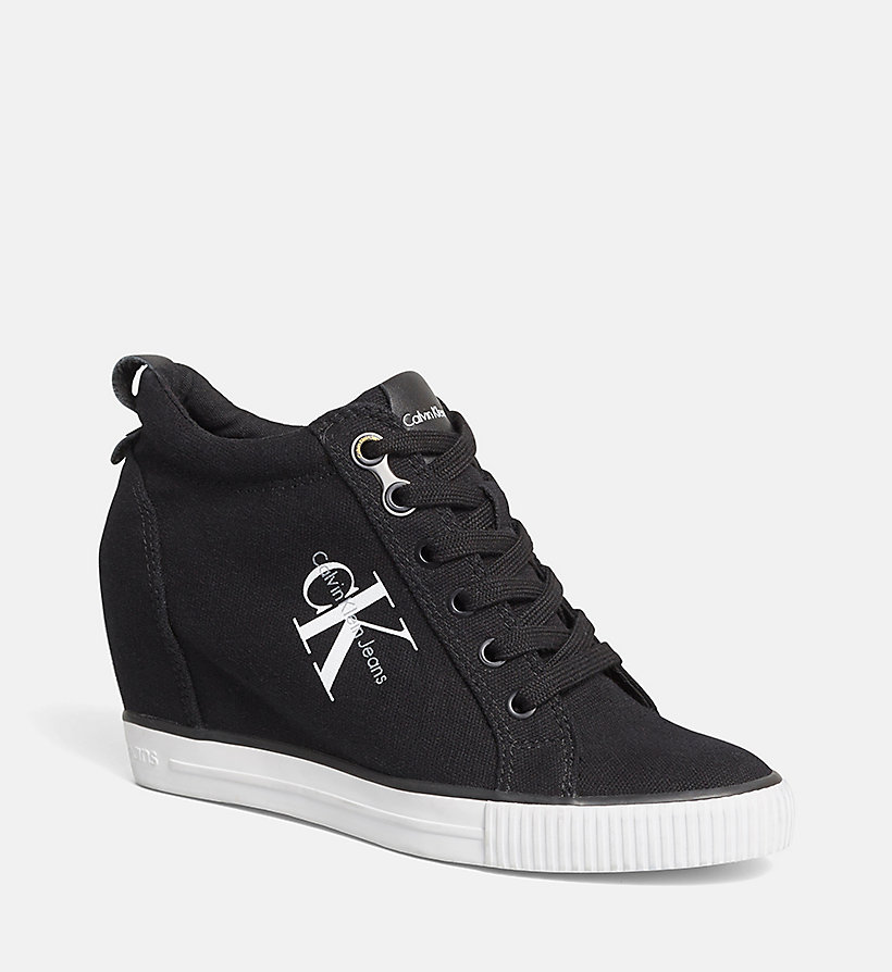 CKJEANS Canvas Sneakers - BLACK/BLACK - CK JEANS SHOES & ACCESSORIES - main image