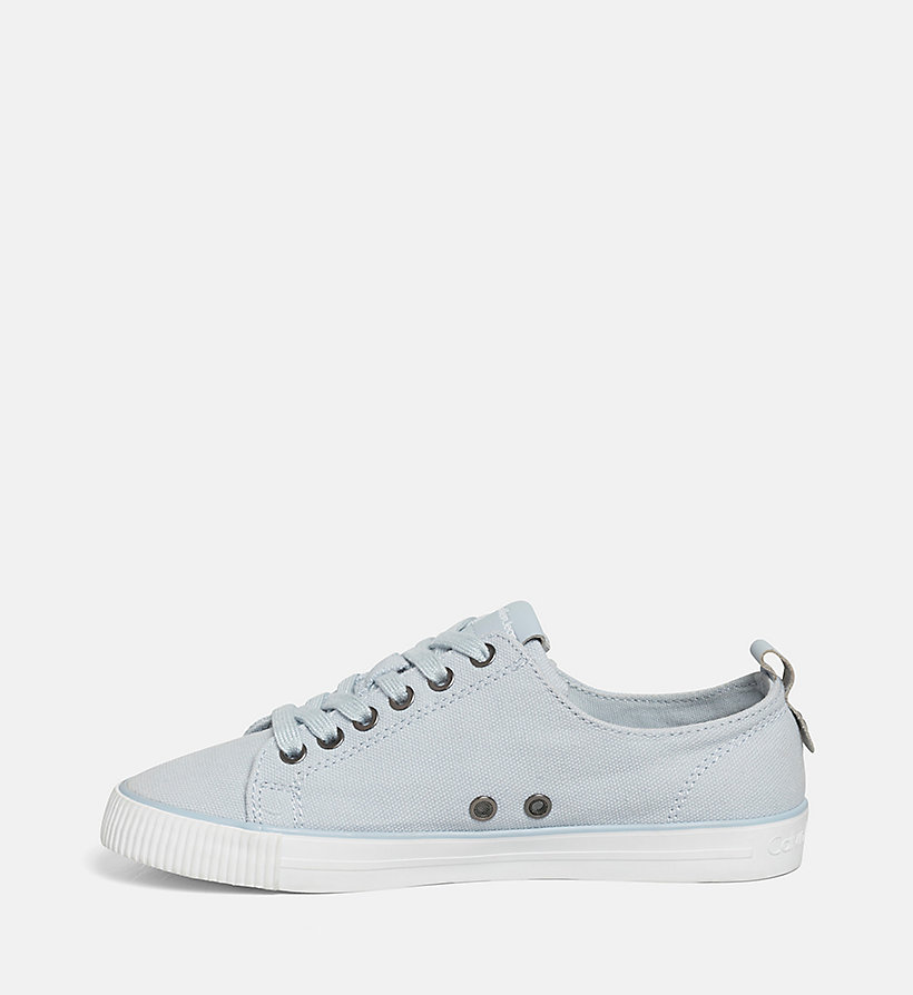 CALVIN KLEIN JEANS Canvas Sneakers - BLACK/CHAMBRAY - CALVIN KLEIN JEANS SHOES & ACCESSORIES - detail image 2