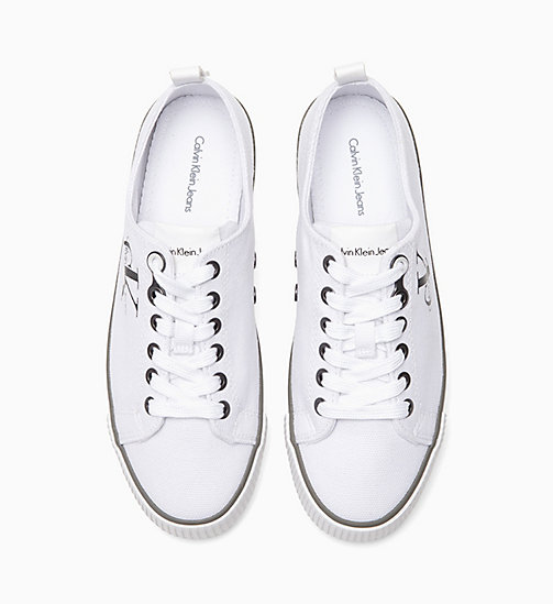 Canvas Sneakers - BLACK/WHITE - CALVIN KLEIN JEANS  - detail image 1