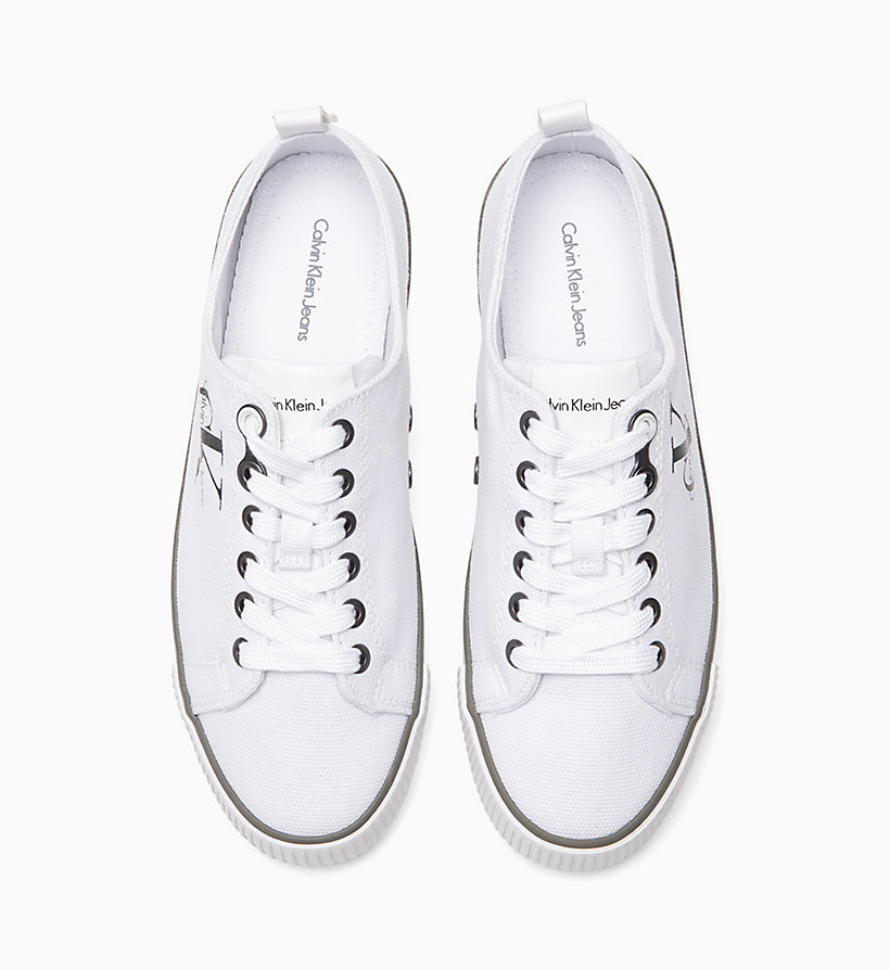CALVIN KLEIN JEANS Canvas Sneakers - BLACK/WHITE - CALVIN KLEIN JEANS SHOES & ACCESSORIES - detail image 1