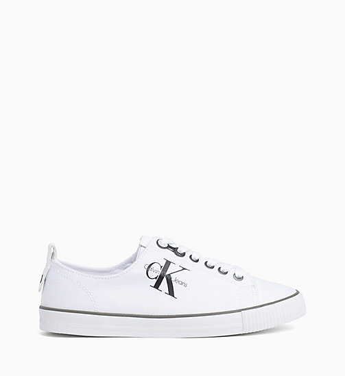 CKJEANS Canvas Sneakers - BLACK/WHITE - CK JEANS TRAINERS - main image