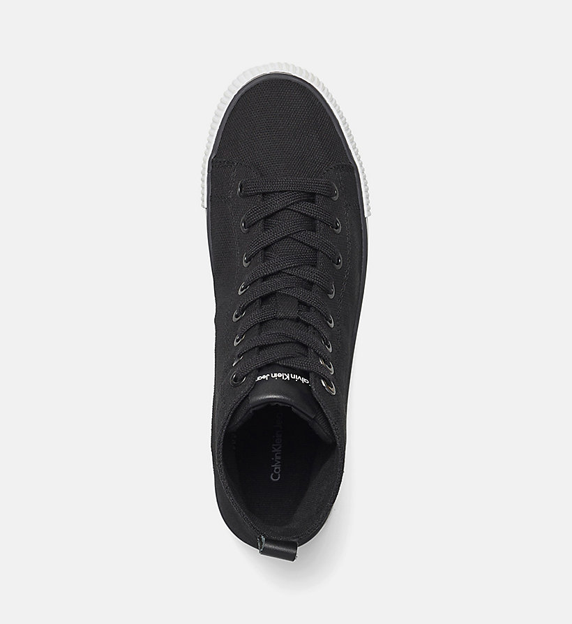 CKJEANS High-Top Canvas Sneakers - BLACK /  BLACK - CK JEANS SHOES & ACCESSORIES - detail image 1