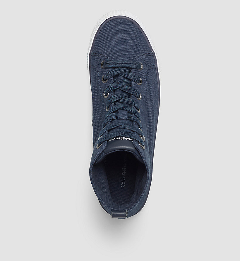CKJEANS High-Top Canvas Sneakers - BLACK/NAVY - CK JEANS SHOES & ACCESSORIES - detail image 1