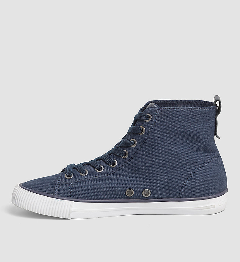 CKJEANS High-Top Canvas Sneakers - BLACK/NAVY - CK JEANS SHOES & ACCESSORIES - detail image 2