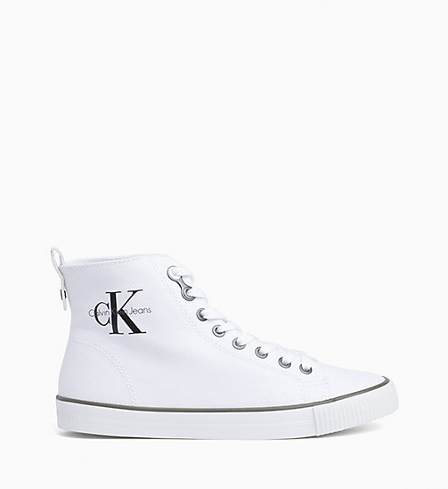 Sneaker a collo alto in canvas - BLACK/WHITE - CK JEANS SCARPE & ACCESSORI - immagine principale