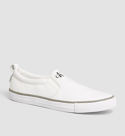 CALVIN KLEIN JEANS Chaussures à enfiler - Dolly 00000R3567WHT