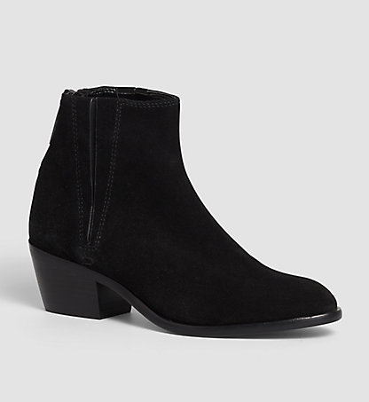 CALVIN KLEIN JEANS Suede Ankle Boots - Phaedra 00000R3622BLK