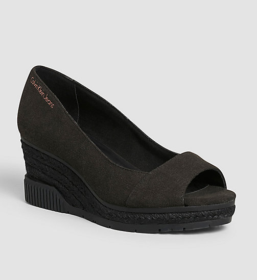 CKJEANS Canvas Pumps - BLACK /  BLACK - CK JEANS SANDALS - main image