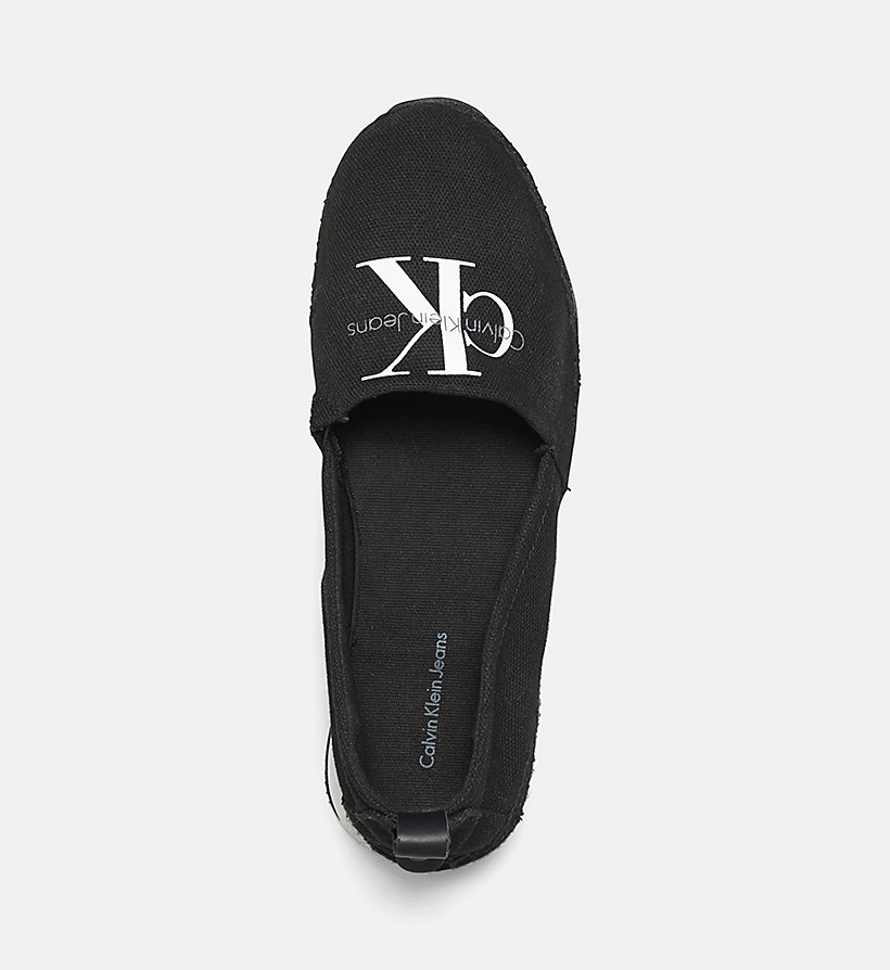 CKJEANS Canvas Slip-On Shoes - BLACK/BLACK - CK JEANS SHOES & ACCESSORIES - detail image 1