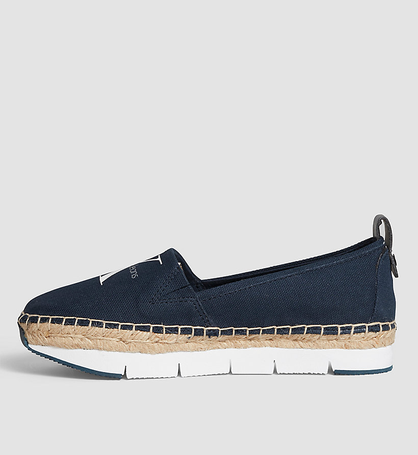 CKJEANS Canvas Slip-On Shoes - BLACK/NAVY - CK JEANS SHOES & ACCESSORIES - detail image 2