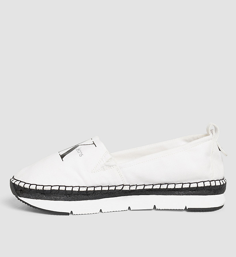 CKJEANS Canvas Slip-On Shoes - BLACK/WHITE - CK JEANS SHOES & ACCESSORIES - detail image 2