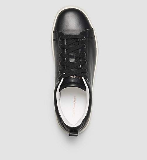 CKJEANS Leather Sneakers - BLACK /  BLACK - CK JEANS SHOES - detail image 1