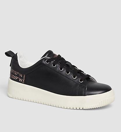 CALVIN KLEIN Leather Sneakers 00000R4054BLK