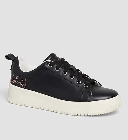 CKJEANS Leather Sneakers - BLACK /  BLACK - CK JEANS SHOES - main image