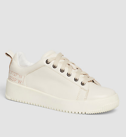 CALVIN KLEIN Leather Sneakers 00000R4054OFW