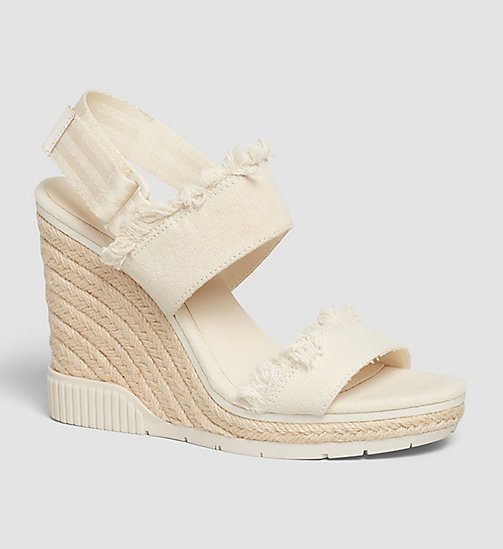 CKJEANS Canvas Sandals - PINK/OFF WHITE - CK JEANS SANDALS - main image