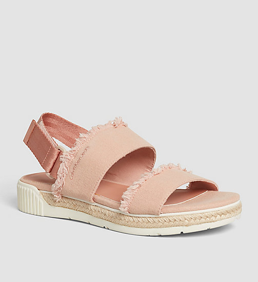 CKJEANS Canvas Sandals - PINK/DUSK - CK JEANS SANDALS - main image