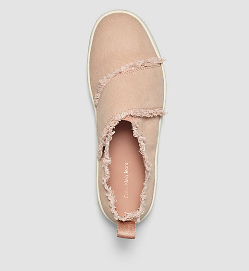 CKJEANS Canvas Slip-On Shoes - PINK/DUSK - CK JEANS TRAINERS - detail image 1