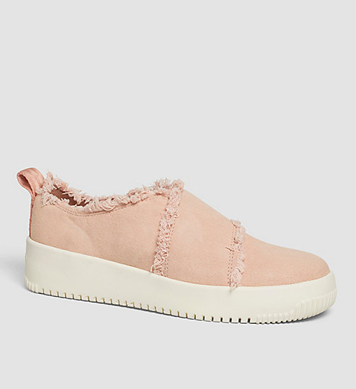 CKJEANS Canvas Slip-On Shoes - PINK/DUSK - CK JEANS TRAINERS - main image