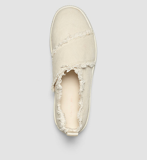 CKJEANS Canvas Slip-On Shoes - PINK/OFF WHITE - CK JEANS TRAINERS - detail image 1