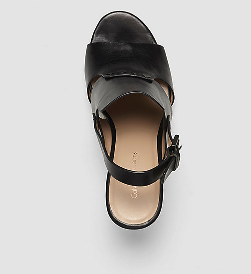 Leather Sandals - BLACK/BLACK - CK JEANS SHOES & ACCESSORIES - detail image 1
