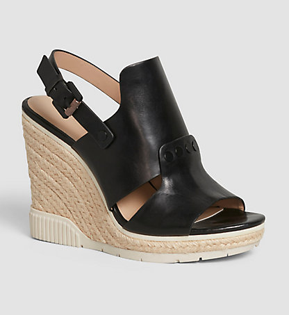 CALVIN KLEIN Leather Sandals 00000R4065BLK