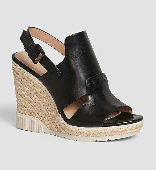 CKJEANS Leather Sandals - BLACK /  BLACK - CK JEANS SANDALS - main image