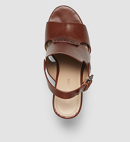 Leather Sandals - BLACK/COGNAC - CK JEANS SHOES & ACCESSORIES - detail image 1